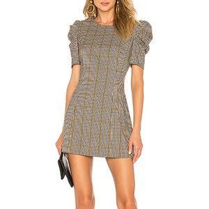 Amanda Uprichard Puff Sleeve Dress P/XS